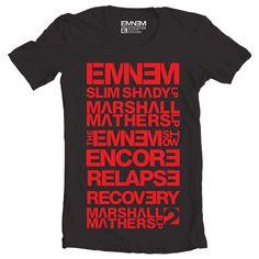 Eminem Discography T-Shirt Eminem T Shirt f1b23fe1f28