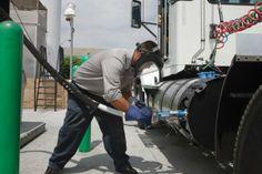 Refueling a Wesport onboard LNG tank.