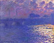 Claude Monet (French, 1840–1926)  Waterloo Bridge, Sunlight Effect, ca. 1900 (dated 1903)  Oil on canvas  29 1/16 x 38 5/8 in. (73.82 x 98.11 cm)  Bequest of Mrs. Albert T. Friedmann M1950.3   Photo credit John R. Glembin