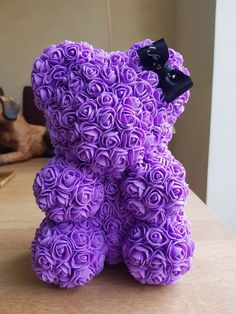Rose Teddy Bear With Bow Birthday Gift, Anniversary Gift, Baby Shower, Christmas Gift for Her – Valentines Day Gift Ideas Valentines Day Birthday, Valentines Day Gifts For Her, Christmas Gifts For Her, Birthday Gifts, Bear Birthday, Teddy Bear Gifts, Valentine Picture, Box Roses, Foam Crafts