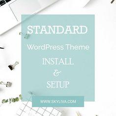 Standard WordPress Theme Installation  Add On to Premade Divi
