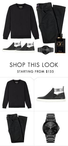 """""""Church Day"""" by amanda-elpidio on Polyvore featuring Yeezy by Kanye West, Hogan Rebel, Lords of Harlech, Citizen, Giorgio Armani, men's fashion and menswear"""