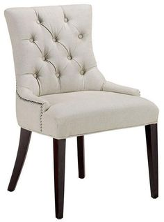 Stylish Becca Nailhead Dining Chair - Accent Chairs - Seating - Living Room | HomeDecorators.com