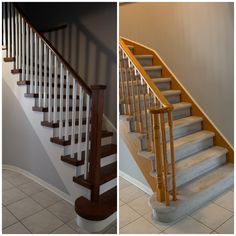 Wood Stair Treads, Wood Balusters, Staircase Railings, Wood Stairs, Ontario, Home Decor, Wooden Ladders, Wooden Staircases, Decoration Home