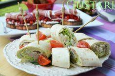 Gustari de vara Party Treats, Ciabatta, Lidl, Tortillas, Special Guest, Ricotta, Mozzarella, Bacon, Picnic