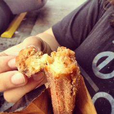 Chuuuuuurro...filled with dulce de leche #yum #churro #mexican #pastry #goodeats