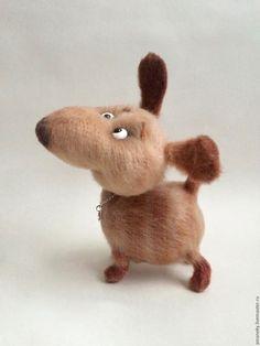Купить Позитиффчик - комбинированный, лучший подарок, собаки, вязаная игрушка, собака игрушка
