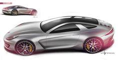 Alan Derosier - Transportation design: 928 Concept Tip up