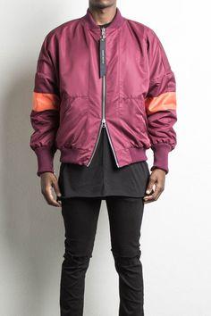 hero bomber v polar / maroon + orangedesigner streetwear mens bomber jacket
