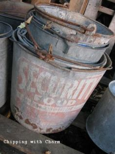 buckets Repinned by www.silver-and-grey.com