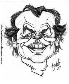 Boceto que hice en lápiz grafito de Jack Nicholson