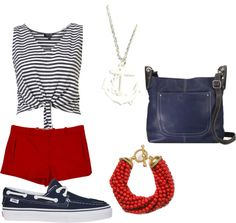 A fashion look from June 2012 featuring spaghetti-strap tank tops, zip pocket shorts and canvas shoes. Browse and shop related looks. Boat Girl, Shoe Bag, My Style, Polyvore, Shoes, Collection, Shopping, Design, Women