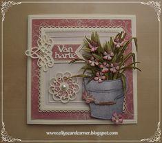 Flower Pots, Flowers, Mo Manning, I Card, Planter Pots, Card Making, Stencil, Corner, Wreaths