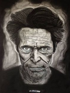 """Saatchi Art is pleased to offer the drawing, """"Willem Dafoe,"""" by Anita Csernak. Original Drawing: Pencil on Paper. Size is 0 H x 0 W x 0 in. Willem Dafoe, Saatchi Art, Portraits, Drawings, Artist, Painting, Sketches, Head Shots, Painting Art"""