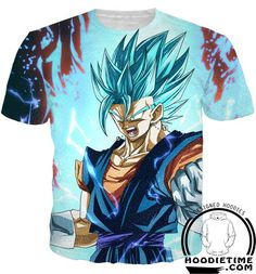 Dragon Ball Super Z - Super Saiyan Vegito Blue Powers Up T-Shirt - 3D Shirt