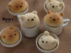 bread bear heads, I have to make these with my boy, he'll love them!