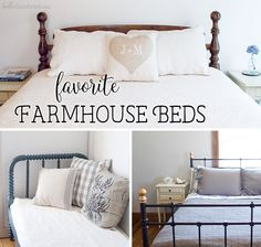 My favorite part yet of furnishing our farmhouse has been the search for beautiful farmhouse beds. Here are some of my favorite farmhouse beds.