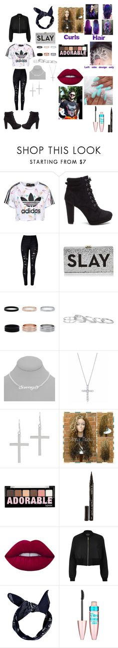 """""""The only time I have luck is when I'm with you 💋💋💋"""" by beautyria03 on Polyvore featuring adidas Originals, Milly, Kendra Scott, Tiffany & Co., Jacmel, Charlotte Russe, Smith & Cult, Lime Crime, River Island and Boohoo"""