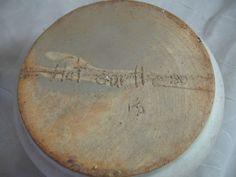 Vintage-Abstract-Flat-Earth-Studio-Pottery-Lidded-Pot-Crock-Signed-1980