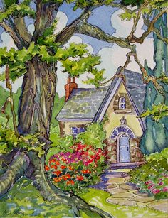 Storybook Cottage Series Stucco and Stone | Alida Akers