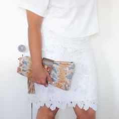 Available in XS,S,M,L. NWT.  Pure Petals Skirt An amazing twist on a classic skirt. The best way to add excitement to a simple piece is with texture. This delicate, feminine skirt is GORGEOUS. If you live in a climate with year-round perfect weather conditions, you'll love this skirt. If you live for feminine piece in your wardrobe, buy it now and save it for the first day of spring!  Product Info: Banded 1 inch waist with side zipper, flower petals overlay full lining, hits right below the…