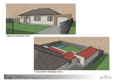 Perspective drawings for a client in Pinelands Perspective Drawing, Conceptual Design, Mansions, House Styles, Drawings, Home Decor, Decoration Home, Manor Houses, Room Decor