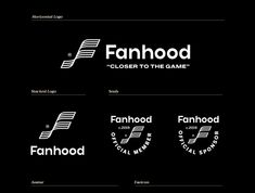 Fanhood Visual Identity by Amy Hood for Hoodzpah on Dribbble Identity Design, Visual Identity, Brand Presentation, Saint Charles, Show And Tell, Case Study, Amy, Branding, Lettering