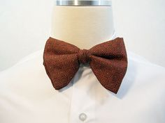 70s Bow Tie Vintage Mens Orange Grey Yellow by CharmingManVintage, $18.00