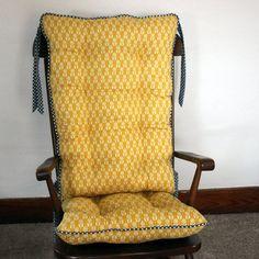 Custom Organic Abbey Rocking Chair Cushions By MayberryandMain