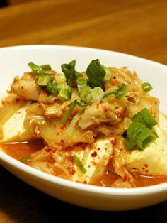 Super Quick Kimchi & Tofu Simmer in the Microwave Recipe by cookpad. Quick Kimchi, Kimchi Recipe, Just Eat It, Microwave Recipes, Deep Dish, Fermented Foods, Pork Belly, Tofu, Great Recipes