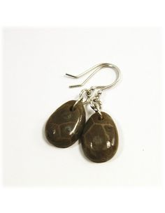 Cyber Monday Sale / Petoskey Stone Jewelry / Petoskey Earrings / by SimplyWired4u