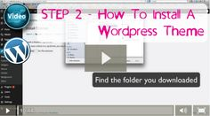 Step 2 of our Videos on How To Create A Wordpress Website - How To Install WordPress Theme.
