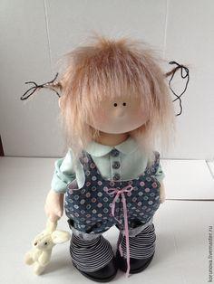 Купить Гаврошка - мятный, человечек, гномик, кукла ручной работы, кукла в подарок, кукла интерьерная