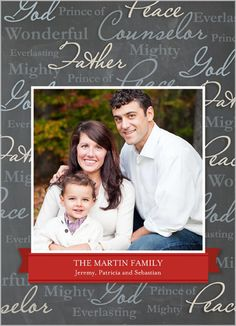 Spread the joy with encouraging words for the holidays. Religious Words 5x7 Photo Card by Shutterfly   www.Shutterfly.com