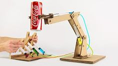 cardboard hydraulic arm - YouTube