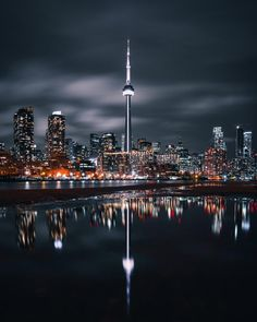 Reflections of Toronto at Night - Architecture and Urban Living - Modern and Historical Buildings - City Planning - Travel Photography Destinations - Amazing Beautiful Places Toronto Canada, Toronto City, Downtown Toronto, Vancouver City, Toronto Travel, Canada Eh, Toronto Photography, Urban Photography, Travel Photography