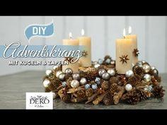 DIY: hübscher Adventskranz mit Kugeln & Zapfen [How to] Deko Kitchen - YouTube