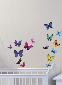Kodin1 - Sisustustarrat värikkäät perho | Sisustustarrat