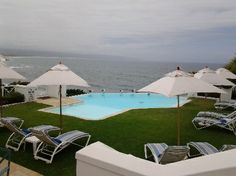 The pool deck at The Plettenberg Hotel, Garden Route Outdoor Furniture, Outdoor Decor, Sun Lounger, South Africa, Deck, African, Patio, Places, Garden