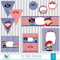Kit festa Pirata - Party  Printable  Pirate