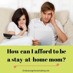 This is a guest post from my friend Deana from TheFrugalHomeschoolingMom.com. I think you'll enjoy it! How can I possibly afford to be a Stay-at-Home Mom? I thought, as I dropped my daughter…