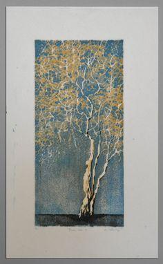 Tree No. 3   woodblock reduction print