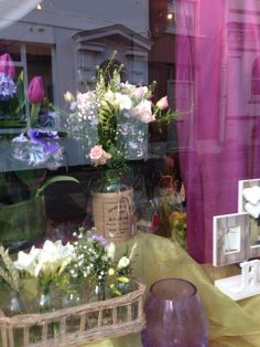Florists window in Brecon