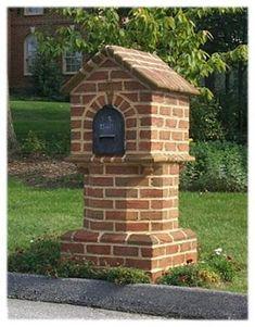 mailboxes designs | Picture of a Custom Brick Mailbox - B4UBUILD.COM