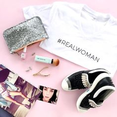 Beauty isn't about having a pretty face. It's about having a pretty mind a pretty heart & a pretty soul!! #toystyle #grlpwr #womensday #pink #realbeauty #beautyboosters #blushbrush #silver #glitter #makeupbag