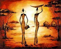 imagenes-de-pinturas-modernas-al-oleo-de-paisajes-africanos+.jpg (965×768)