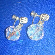 Vintage Laguna Aurora Borealis Drop Earrings by BorrowedTimes