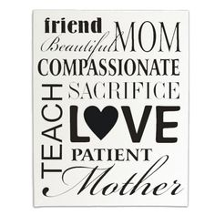 Subway Art Mother's Day #Mom #Vinyl #Canvas #DIY #Craft #Font #Type