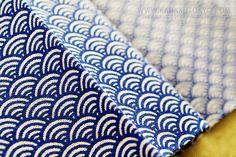 SEIGAIHA tenugui traditional pattern of Japan