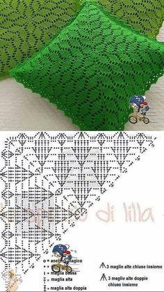 Col Crochet, Crochet Pattern Free, Crochet Shawl Free, Crochet Triangle, Crochet Diagram, Crochet Chart, Crochet Squares, Crochet Motif, Crochet Designs